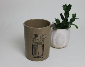 Pearson of Chesterfield Stoneware Kitchen Utensils Pot