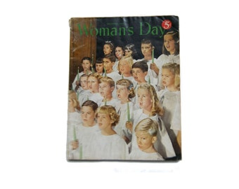 Womans Day Magazine Christmas Issue from December 1950 Fashions Old Ads Mid Century