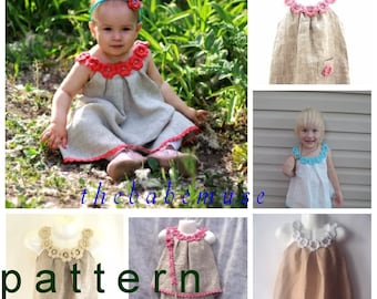 DIY Crochet  pattern Pdf , DIY crochet dress, crochet tutorial, crochet baby dress PATTERN, Baby Dress - Girls Dress - newborn to  any age