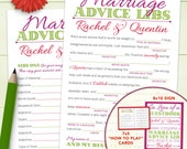 Custom Wedding Mad Lib Marriage Advice Guestbook - Printable Or Printed [#212]