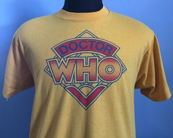 80s Vintage Doctor Who BBC 1983 T-Shirt - LARGE