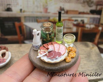 Miniature Dollhouse Provence Gourmet Breakfast Board