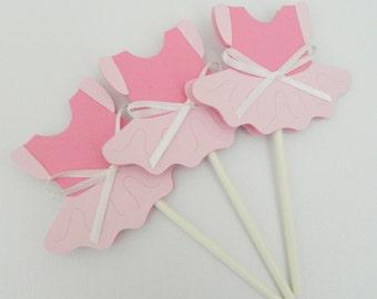Pink Tutu Cupcake Toppers Tutu Cupcake Toppers Tutu Birthday Party Tutu Party Decorations Tutu Cupcake Topper Tutu Birthday • Set of 12