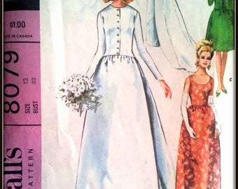 McCall's 8079  Bridal Gown  Size  12