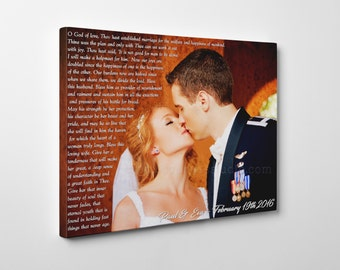Army wedding photo, Army couple, Personalized Gift, Military Wedding Photo, Gift for Military Husband, Military wife, Military canvas print