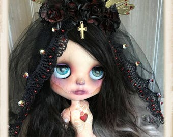 The Little Dead Bride By GBabyDolls and SirenitaDolls Ooak Custom Blythe Doll