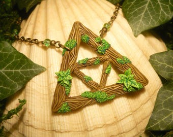 Triforce of the Lost Woods II - handcrafted Pendant