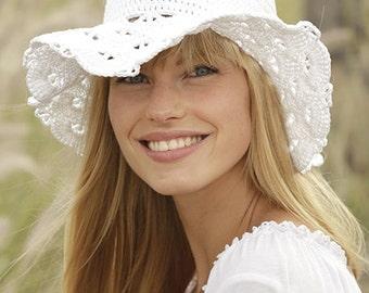Summer outdoors Floppy beach hat Sun hat womens Cloche hat Summer hat Beach hat Hemp hat Wide Brim hat Crochet hat Spring hat  Bucket hat