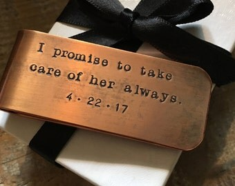 I Promise To Take Care Of Her Always, Father Of The Bride Gift, Gift From Groom, Little Bit Of Money Left, Groom Gift To Father Of The Bride