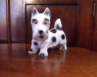 Vintage Scottish Terrier,  Scottie Dog Planter Made in Japan