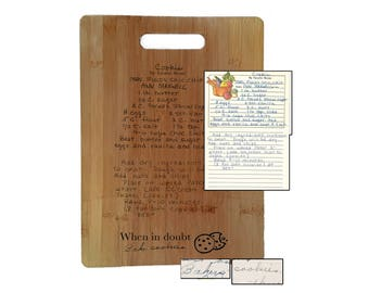 Custom Recipe Cutting Board- handwriting keepsake- mother's day- handwritten- handwriting gift- wood have said- would have said
