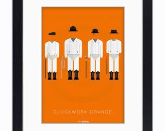 Clockwork Orange - Mounted & Framed Art Print