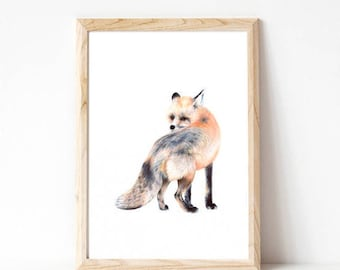 home decor, nursery art, woodland nursery, childrens art prints, art prints, fox, nursery art, wall art, woodland creatures