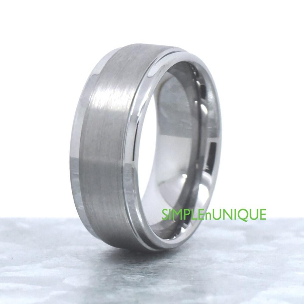mens ring mens wedding band wedding rings 9mm tungsten ring