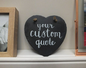 Personalised Gift, Hanging Heart, Custom Quote, Personalised Wedding, Gift For Her, New Baby Gift, Anniversary Gift, New House Gift