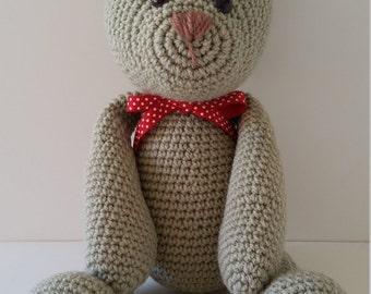 Teddy bear, crochet, amigurumi, crochet teddy bear, classic teddy bear, nursery decor, baby shower gift, new baby gift