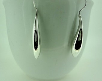 Sterling Silver Liquid Silver Earrings