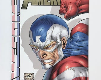 Fighting American Superhero Comic Book, Volume 3, Number 1, Awesome Entertainment, Collectible Independent Comic Studio, Mint Condition