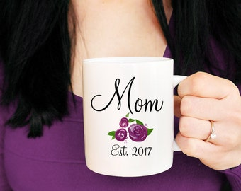 Mommy to Be Mug - New Mom Mug Floral Mug - Mommy Mug Mom to Be - Baby Shower Gift Pregnancy Announcement Watercolor Mug - Mommy to be Gift
