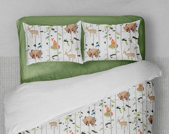 Fox Comforter - Kids Comforter - Toddler Bedding - Twin Comforter - XL Comforter - Boys Comforter - Kids Bedding - Woodlands Bedding