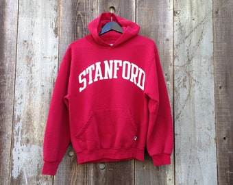 Faded Stanford Hooded Sweatshirt, Red Stanford Hoodie, Maroon Stanford Sweatshirt, Russell Stanford Hoodie