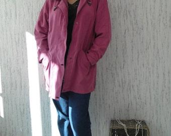 Vintage Hooded Parka Light Jacket