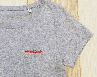 Embroidered T-shirt ATTACHIANTE