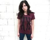 Womens T Shirt, American Apparel Track Tee, Science Shirt, Teen Gift, Chromosomes, Funny T-shirt, Tri Blend, Womens Clothes, Woman Tshirt