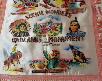 Vintage Badlands Souvenir Pillow Cover  #17S