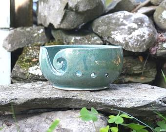 Blue Speckled VERTIGO Yarn Bowl~Knitting Bowl~ Handmade in Studio ~ Ready to ship !!!