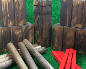 SALE: Rustic Kubb Outdoor Yard/Lawn Game - The Viking Game