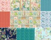 MERMAID DAYS Half Yard Bundle - by Cori Dantini for Blend Fabrics - 7 Half Yard Pieces + 2 Panels