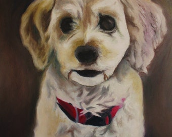 Custom Made Pet Portrait / Acrylic Painting / 1 Pet/ **Lowest Price - 50% Down Deposit**