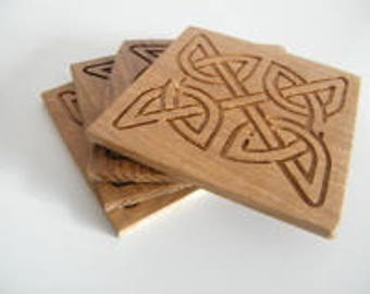 Oak Celtic Coasters