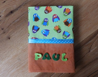 U magazine cover your name? Paul OWL fabric cover handmade new