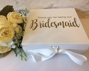 bridesmaid box etsy uk. Black Bedroom Furniture Sets. Home Design Ideas