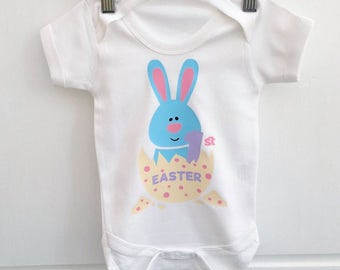 1st easter bib baby easter gift personalised easter gift uk 1st easter vest personalised easter baby easter gift made in the uk negle Gallery