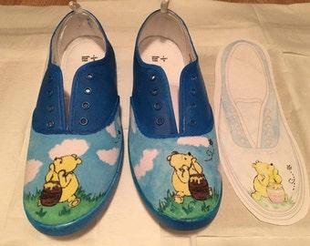 Handmade Winnie The Pooh inspired Shoes