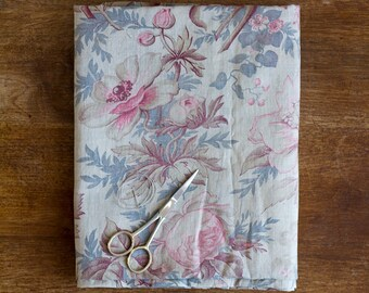 Antique Garden Bouquet Print Fabric