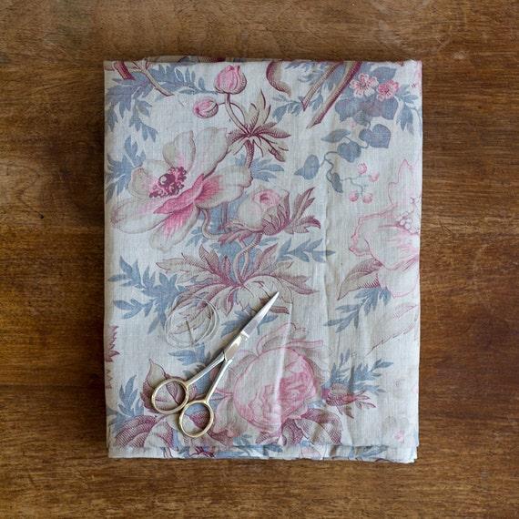 Antique Garden Bouquet Print Fabric