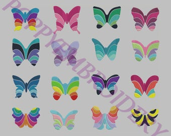 BUTTERFLY design  for embroidery machine  /  papillon motifs pour broderie machine / INSTANT DOWNLOAD