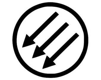 Kids T-Shirt Anti-Fascist Three Arrow Symbol Screen Print in Kids S-L