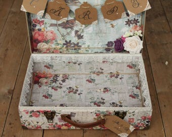 Extra Large Love birds wedding card suitcase.