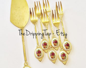 Gold Plated Fork Etsy