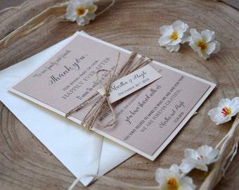 Elegant Wedding Thank You Cards, Simple Wedding Thank You Notes, Custom Thank You Notes for Wedding, Formal Marriage Thank You Cards