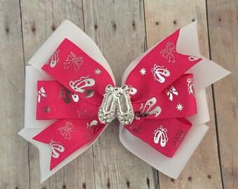 Ballerina Double Pinwheel Bow, Ballet Bow, Ballet Slippers