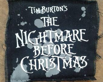 Nightmare Before Christmas Small Patch Destash Repurpose Tim Burton
