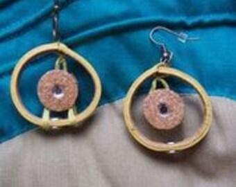 Boho Yellow Bangle Earrings