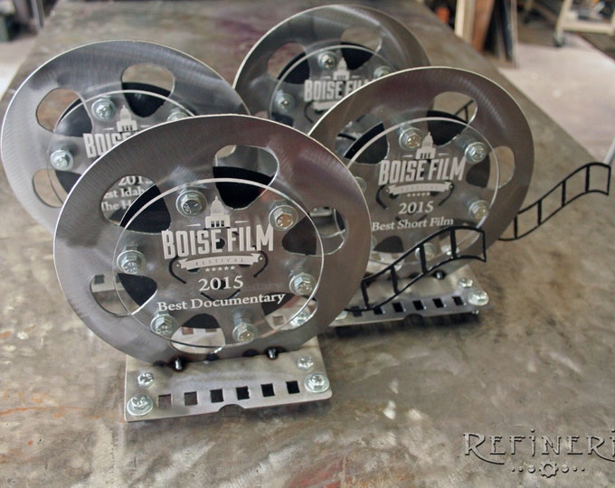 Custom Trophy Film Reel Design Movie Fest
