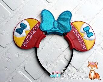 Tweedledee & Tweedledum inspired Mouse Ears
